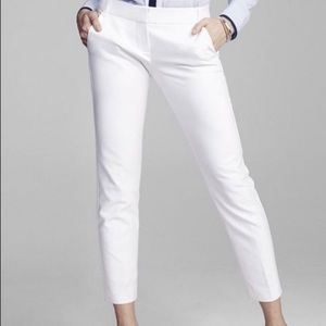 Express Columnist Crop Fitted White Size 2 NWT